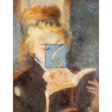르느와르 명화그림 - 책읽는소녀(캔버스화)