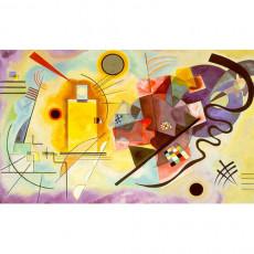 칸딘스키 명화그림 - 노랑,빨강,파랑(캔버스화)