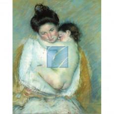 마리커셋 명화그림 - 어머니와아들파스텔(캔버스화)