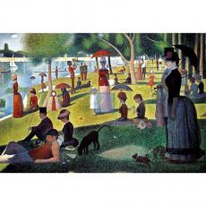 쇠라 명화그림 - 그랑자트섬의 일요일 오후(캔버스화)