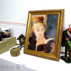 화장실액자 명화소품액자 - 책 읽는 소녀 / 르느와르