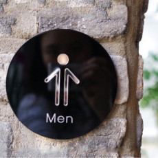 화장실픽토그램 Worm Hole / 웜홀 / 전면형 화장실 표지판