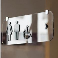 화장실픽토그램 Casper / 캐스퍼 / 천장형 화장실 표지판