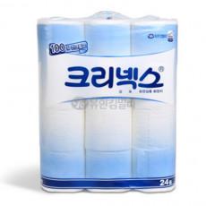 [소분포장]크리넥스 두루마리 물에잘녹는휴지 화장지 40m2겹 (24롤)