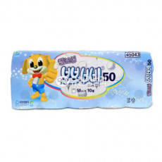 뽀삐  엠보싱 두루마리 물에잘녹는휴지 화장지  50m2겹10롤x10백 (100롤)