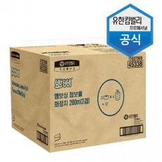 유한킴벌리 뽀삐 엠보싱 점보롤   화장지 200m2겹12롤/박스[무료배송]
