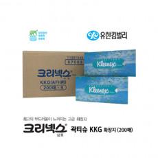 크리넥스 각티슈 KKG 화장지 200매 9카톤/BOX